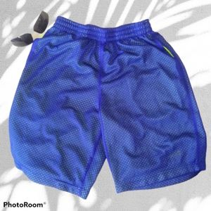 AVIA Blue Quick Dry Mesh Athletic Shorts
